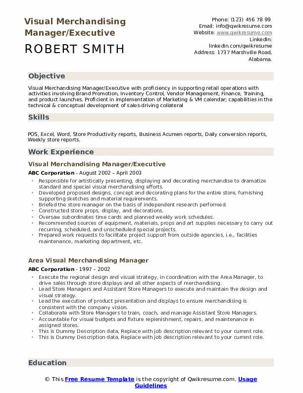 visual merchandising manager resume samples qwikresume merchandiser sample pdf dropbox Resume Visual Merchandiser Resume Sample