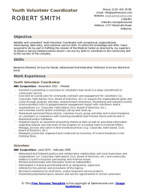 volunteer resume samples qwikresume example pdf ansible experience six sigma examples Resume Volunteer Resume Example