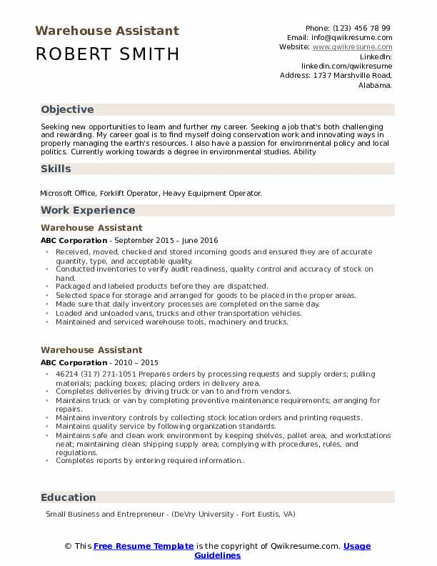 warehouse assistant resume samples qwikresume duties pdf examples customer service retail Resume Warehouse Duties Resume