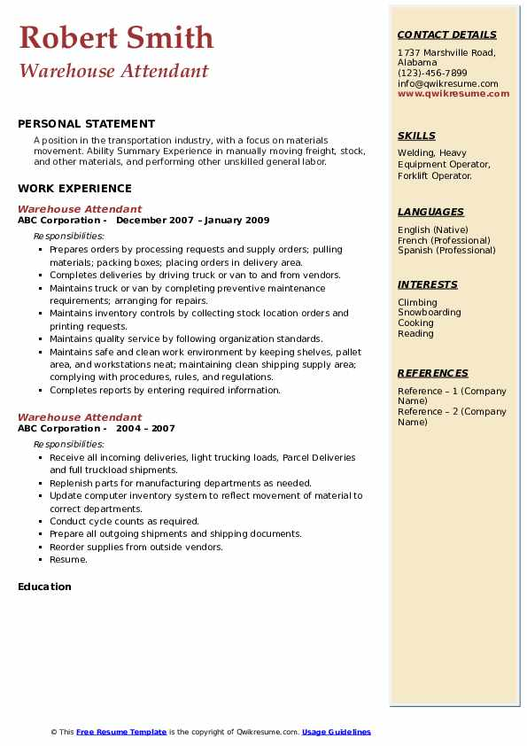 warehouse attendant resume samples qwikresume pdf awesome examples drop your here agile Resume Warehouse Attendant Resume
