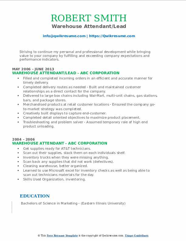 warehouse attendant resume samples qwikresume pdf janitor examples of counselling Resume Warehouse Attendant Resume