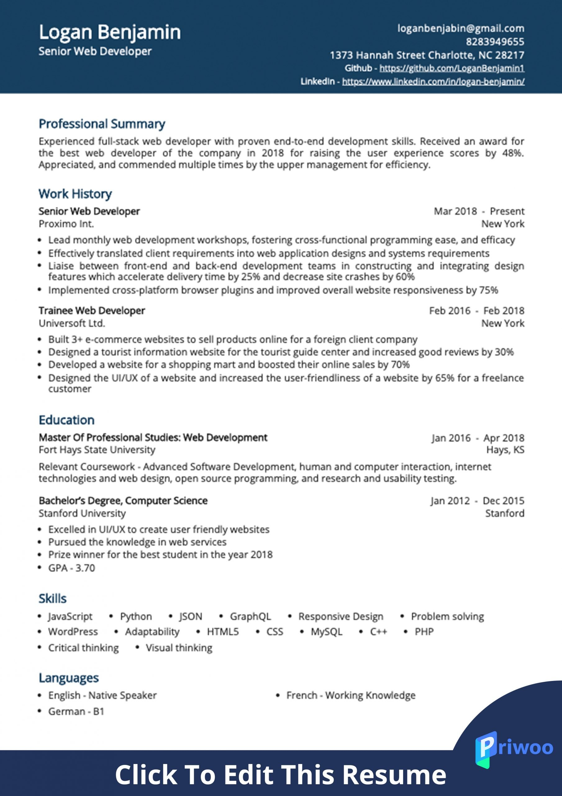 web developer resume example best action verbs skills priwoo soap services scaled creddle Resume Soap Web Services Developer Resume