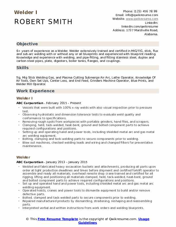 welder resume samples qwikresume examples pdf par chapitre therese raquin experienced Resume Welder Resume Examples Samples