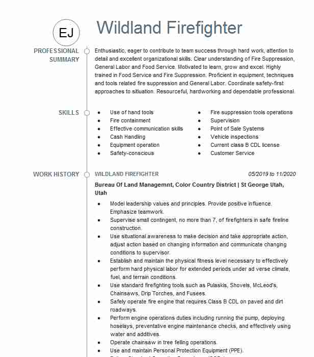 wildland firefighter resume example hotshots service arroyo grande attorney examples best Resume Wildland Firefighter Resume