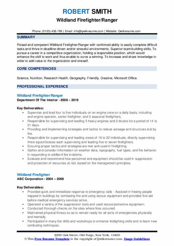 wildland firefighter resume samples qwikresume pdf linkedin ats call center objective Resume Wildland Firefighter Resume