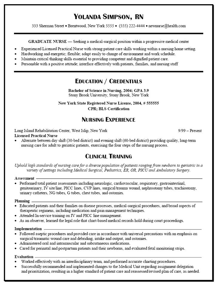 with resume nursing new grad format graduate rn template business process specialist Resume New Graduate Rn Resume Template