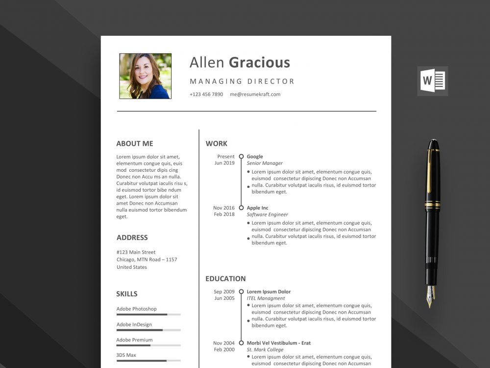 word resume template free daily mockup best templates 1000x750 sample for building Resume Best Word Resume Templates 2020