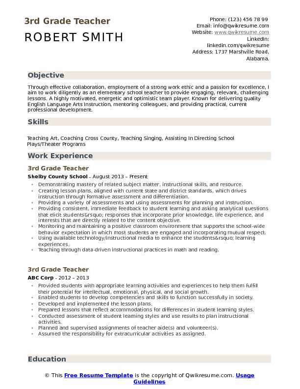 3rd grade teacher resume samples qwikresume gifted and talented pdf free dynamic Resume Gifted And Talented Teacher Resume