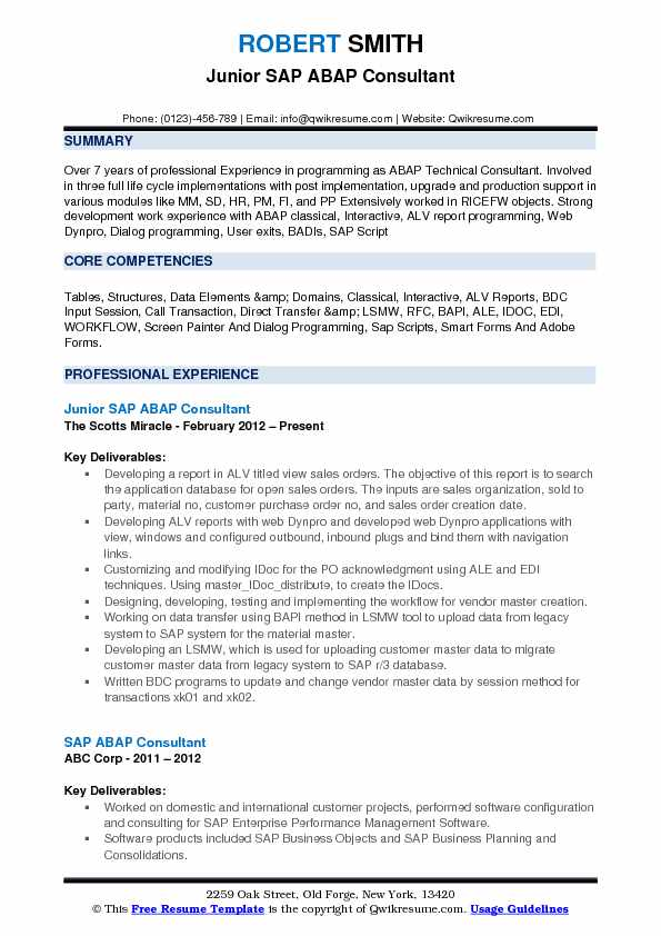 abap consultant resume samples qwikresume sap portal pdf saute chef perfect investment Resume Sap Portal Consultant Resume