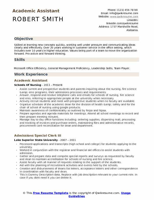 academic assistant resume samples qwikresume learning pdf customer service objective or Resume Learning Assistant Resume