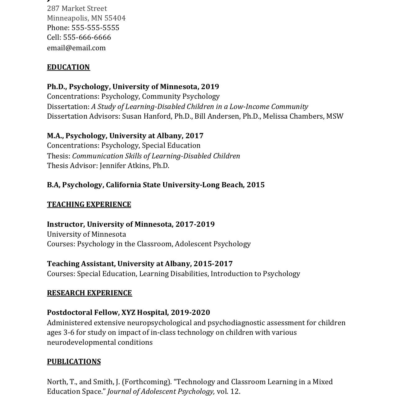 academic curriculum vitae cv example and writing tips listing publications on resume Resume Listing Publications On Resume