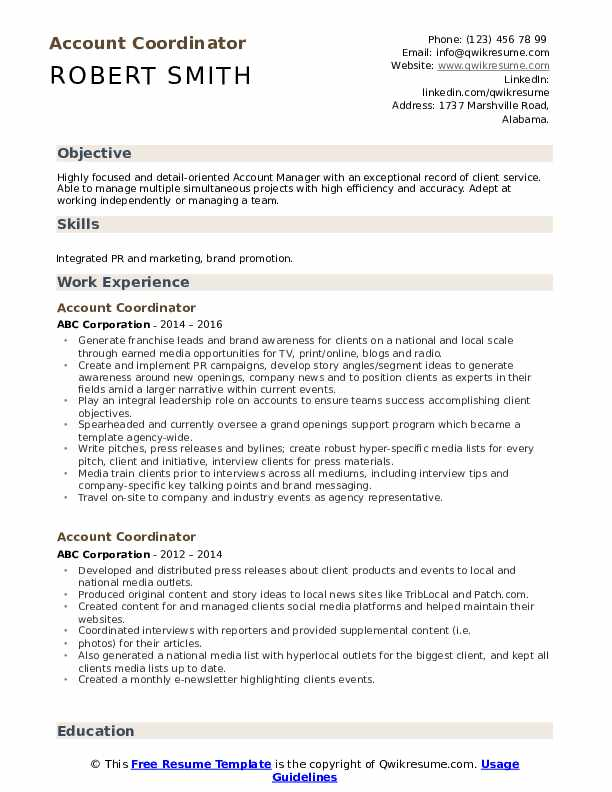 account coordinator resume samples qwikresume accounting sample pdf graduation date Resume Accounting Coordinator Resume Sample