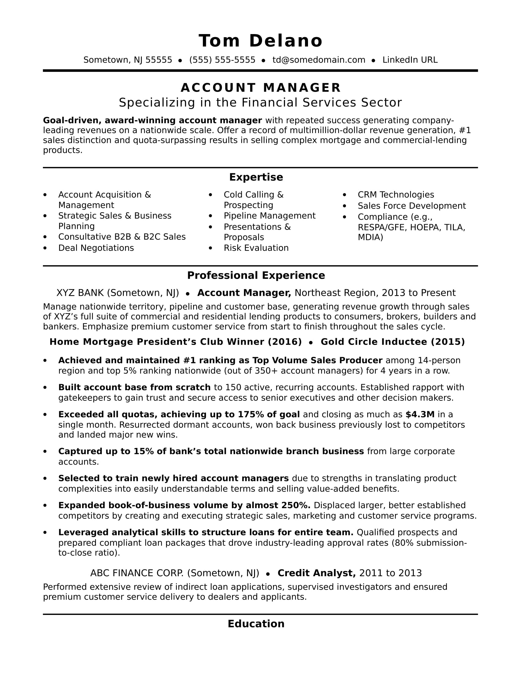 account manager resume sample monster professional executive colorful template experience Resume Professional Account Executive Resume