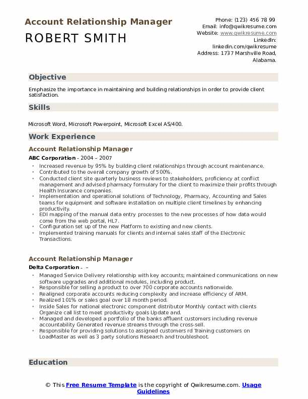 account relationship manager resume samples qwikresume building pdf types of format Resume Relationship Building Resume