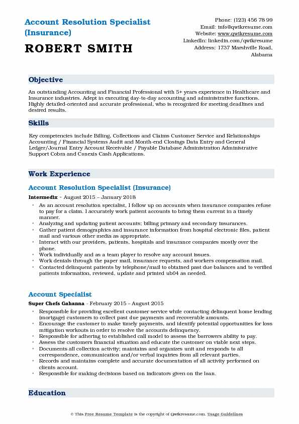 account resolution specialist resume samples qwikresume conflict pdf examples executive Resume Resume Conflict Resolution