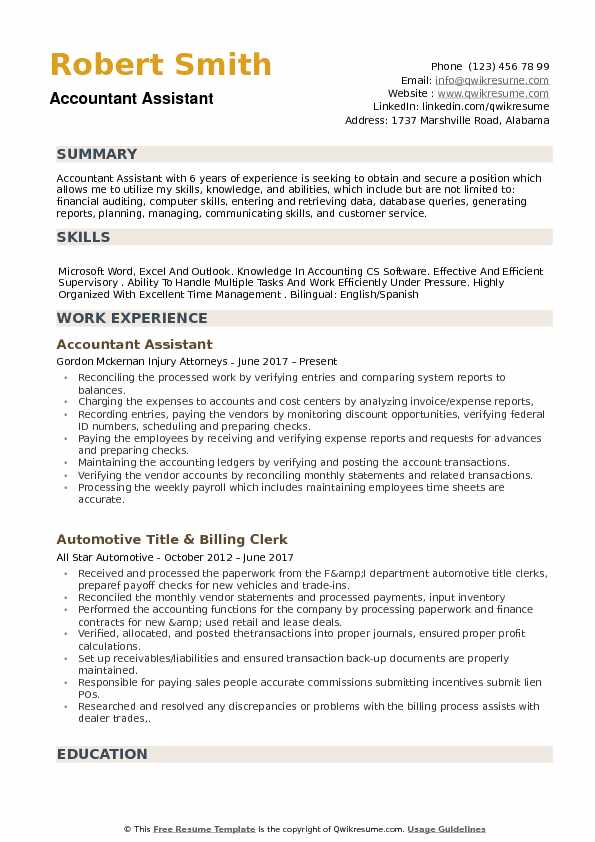accountant assistant resume samples qwikresume skills and abilities for accounting pdf Resume Skills And Abilities For Accounting Resume