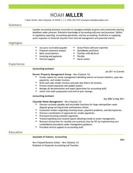 accounting assistant resume examples finance livecareer accountant retail sample college Resume Accounting Assistant Resume Sample