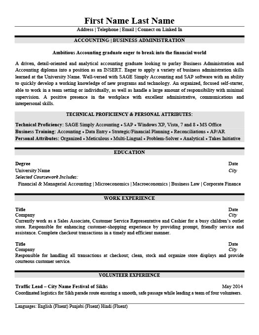 accounting business administration resume template premium samples example examples Resume Business Administration Resume Examples