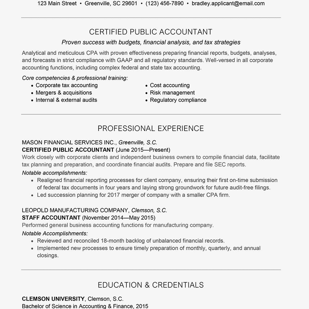 accounting resume examples skills cyber security analyst tips on formatting for commerce Resume Accounting Resume Skills