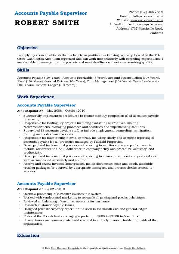 accounts payable manager resume samples qwikresume supervisor pdf nutritionist example Resume Accounts Payable Manager Resume