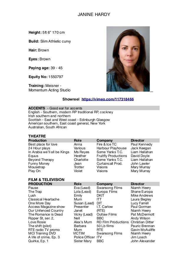 acting resume template audition and headshot cv skills on customer service disney play Resume Audition Resume And Headshot