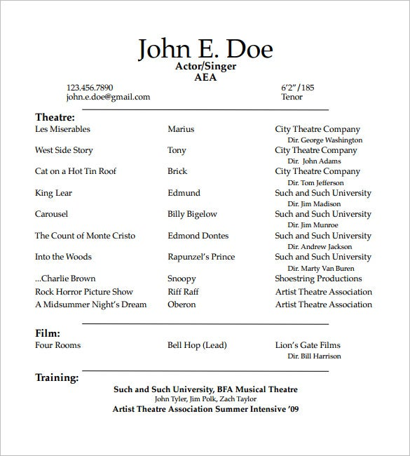 acting resume templates free samples examples formats premium theatre template student Resume Theatre Resume Template