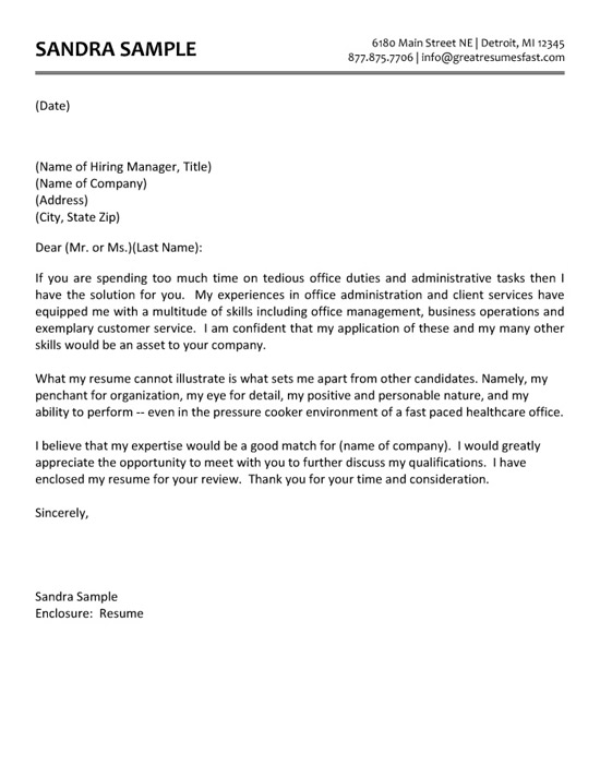 administrative assistant cover letter example resume and services toronto example15 Resume Resume And Cover Letter Services Toronto
