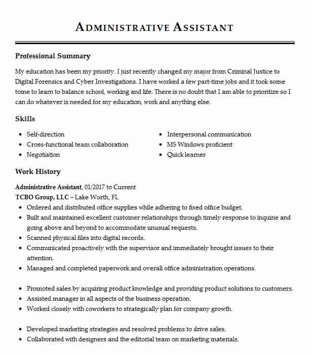 administrative assistant multitasking resume example apple neuro spine palm coast skills Resume Multitasking Skills Resume
