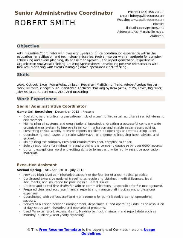 administrative coordinator resume samples qwikresume another word for on pdf detail Resume Another Word For Coordinator On Resume