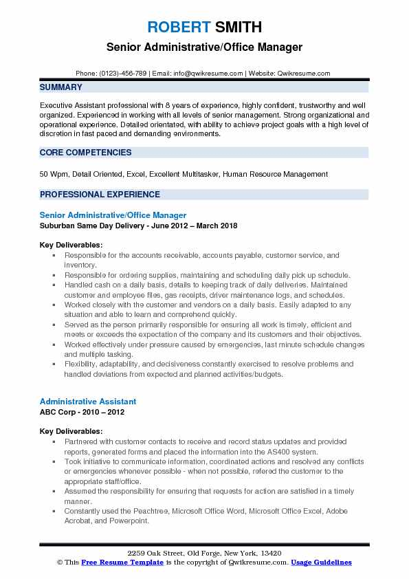 administrative office manager resume samples qwikresume description for pdf purdue format Resume Office Manager Description For Resume