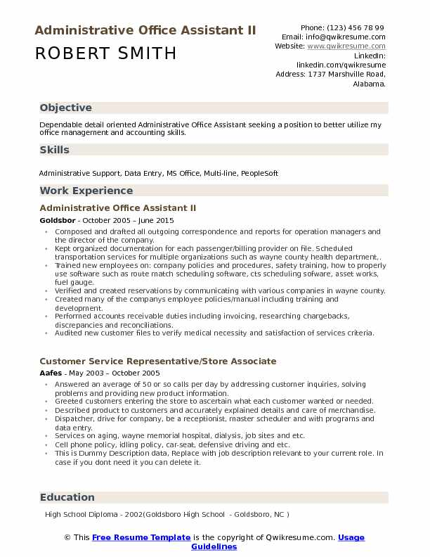 administrative resume samples examples and tips headline for your profile office Resume Headline For Your Resume Profile