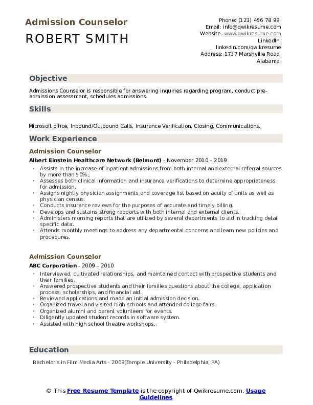 admission counselor resume samples qwikresume high school for college admissions template Resume High School Resume For College Admissions Template