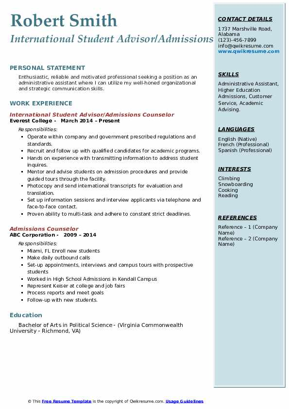admissions counselor resume samples qwikresume admission pdf phd student air force Resume Admission Counselor Resume