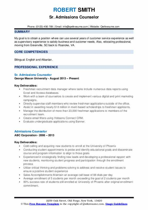 admissions counselor resume samples qwikresume admission pdf phd student civil engineer Resume Admission Counselor Resume