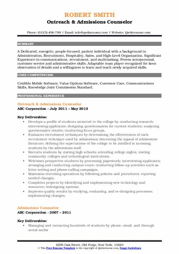 admissions counselor resume samples qwikresume admission pdf writing group hospitality Resume Admission Counselor Resume