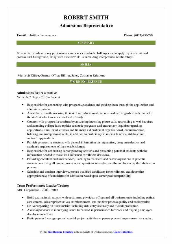 admissions representative resume samples qwikresume format for university admission pdf Resume Resume Format For University Admission