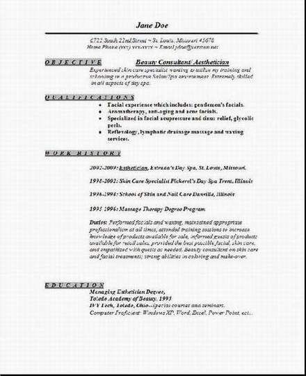 aesthetician resume occupational examples samples free edit with word cover letter for Resume Medical Esthetician Resume Examples