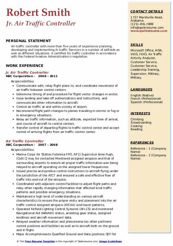 air traffic controller resume samples qwikresume examples pdf medical customer service Resume Air Traffic Controller Resume Examples