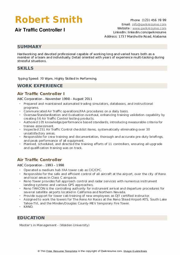 air traffic controller resume samples qwikresume examples pdf objective for scholarship Resume Air Traffic Controller Resume Examples