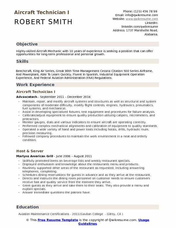 aircraft technician resume samples qwikresume best format for aviation pdf copyright unit Resume Best Resume Format For Aviation