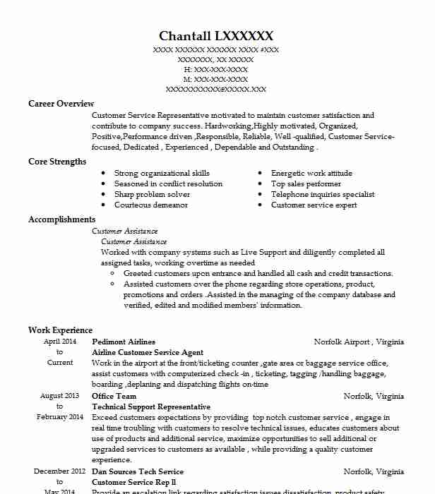 airline customer service agent resume example livecareer airport ground staff skills for Resume Airport Ground Staff Resume