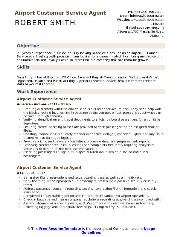 airport customer service agent resume samples qwikresume ground staff pdf front office Resume Airport Ground Staff Resume