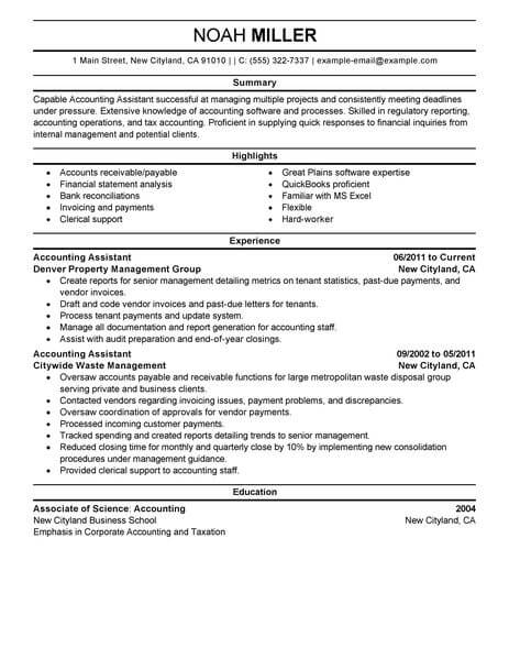amazing accounting finance resume examples livecareer accountant summary assistant Resume Accountant Resume Summary