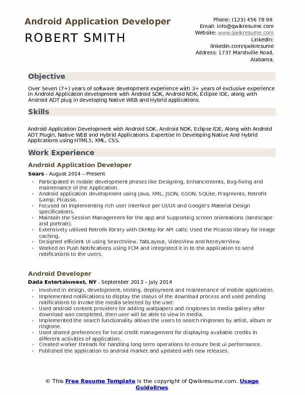 android application developer resume samples qwikresume for years experience pdf best Resume Android Resume For 2 Years Experience