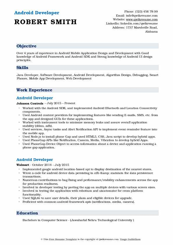 android application developer resume samples qwikresume for years experience pdf summary Resume Android Resume For 2 Years Experience