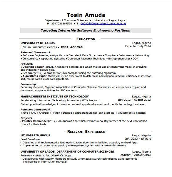 android developer resume templates free word excel pdf format premium for years Resume Android Resume For 2 Years Experience