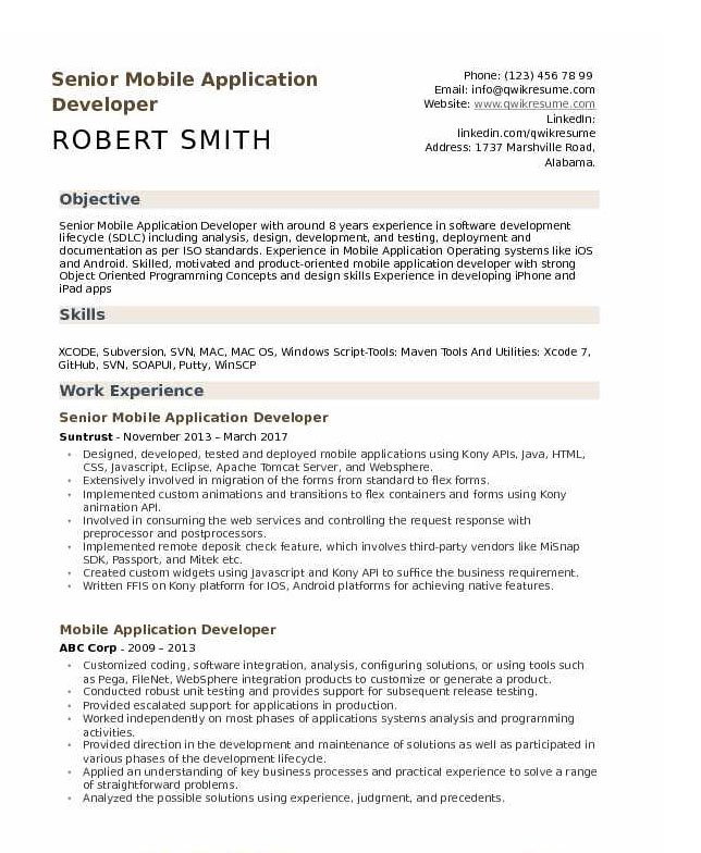 android developer resume tips and templates application example your word whizzle Resume Mobile Application Developer Resume