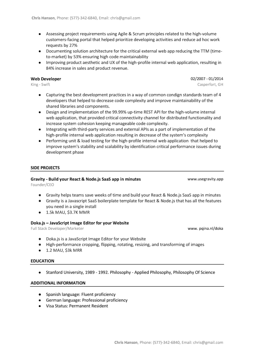 angular developer resume sample template tested word version dev community angularjs lg Resume Angularjs 2 Resume Sample