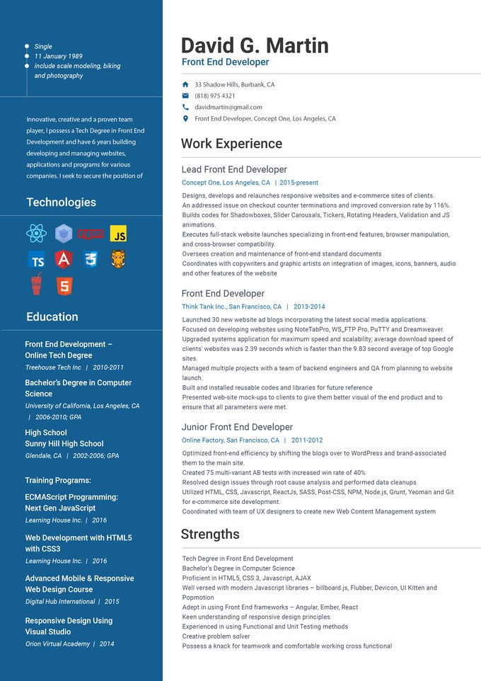angularjs experience resume javascript samples itguyresumes sample front end developer Resume Angularjs 2 Resume Sample