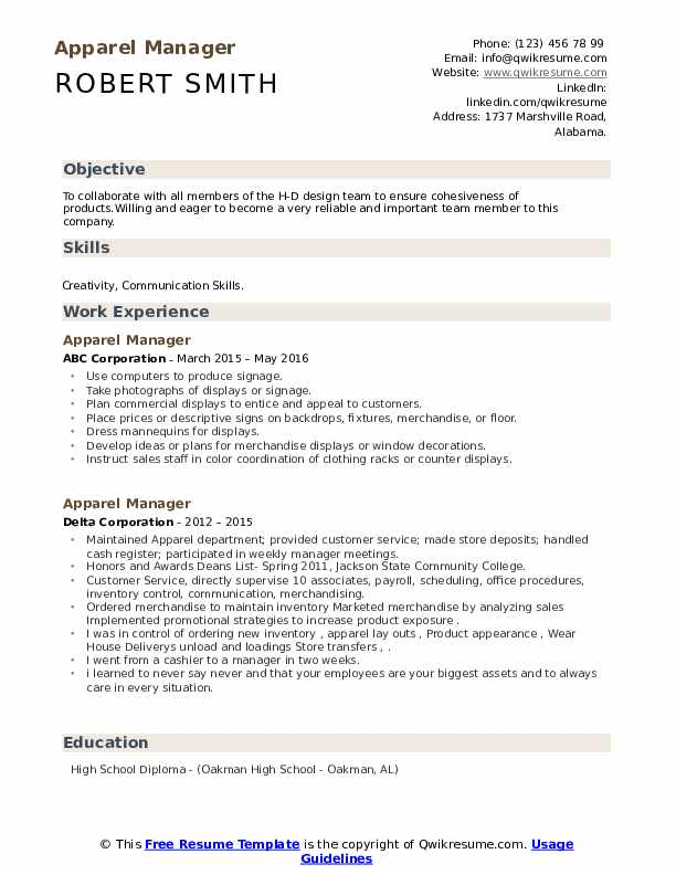 apparel manager resume samples qwikresume collaborate with team members pdf dob Resume Collaborate With Team Members Resume